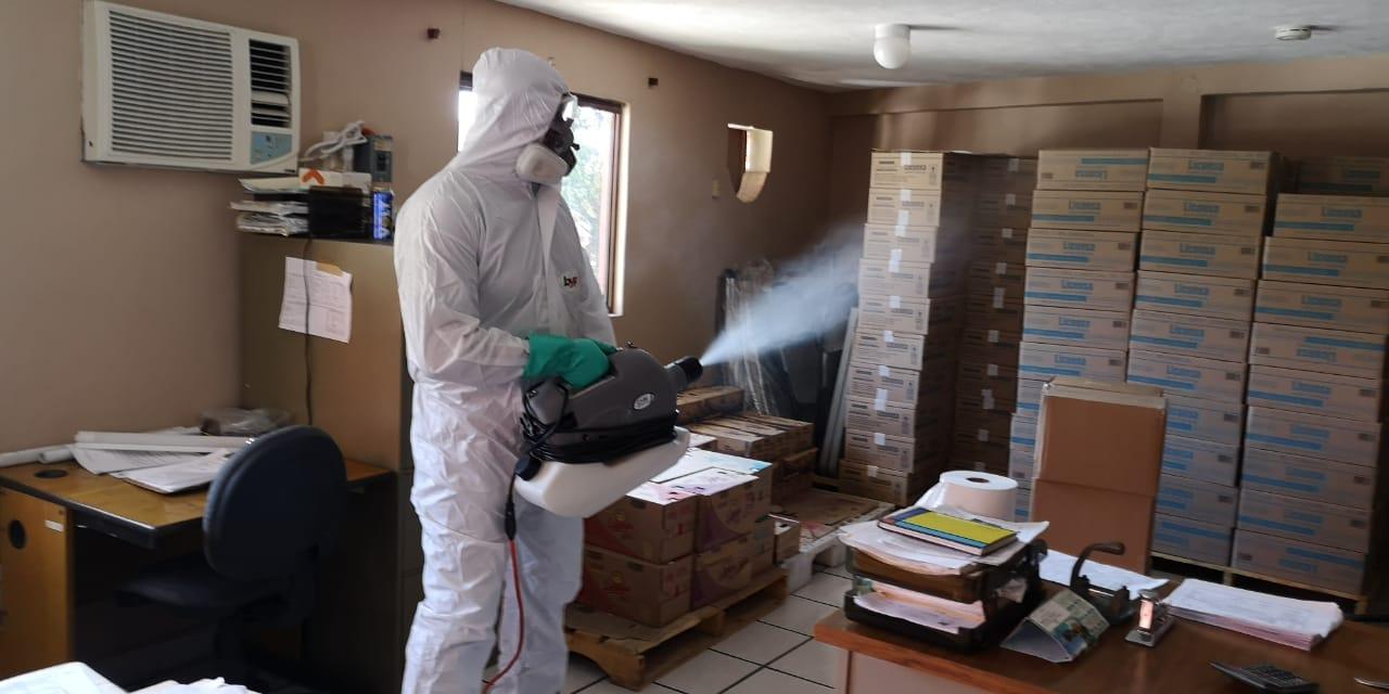 Sanitización contra virus y bacterias